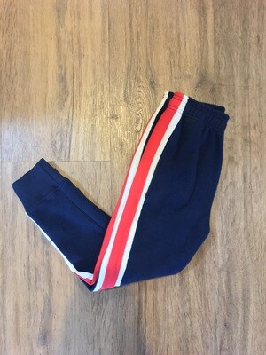 Wes & Willy Sweatpants - Navy with Red & White Stripe