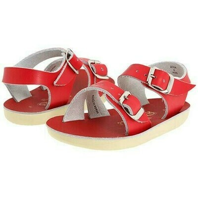 'Sea Wees' Salt Water Sandals - Red