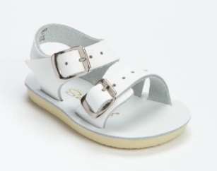 'Sea Wees' Salt Water Sandals - White