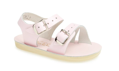 'Sea Wees' Salt Water Sandals - Shiny Pink