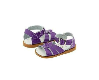 Salt Water Sandals Leather Water Safe Sandals - Shiny Purple