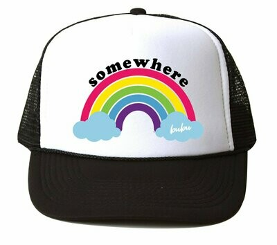 "Bubu ""Somewhere Over the Rainbow"" Hat - Black & White"