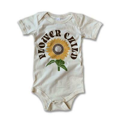 "Rivet Apparel Co. ""Flower Child"" Onesie - Natural"
