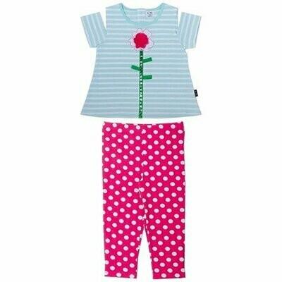 Le Top Set - Flower Polka Dots