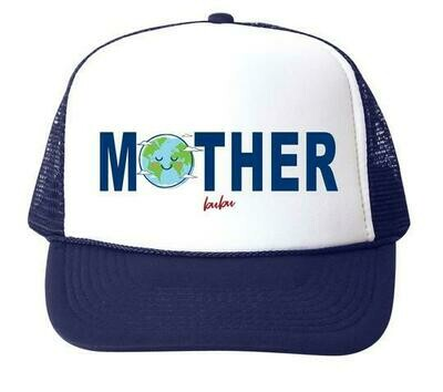 "Bubu ""Mother Earth"" Trucker Hat - Navy"