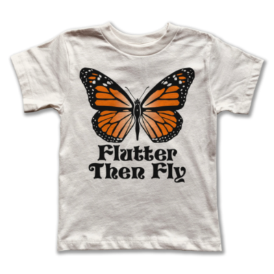 "Rivet Apparel Co. ""Flutter Then Fly"" Tee - Natural"