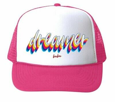 """Bubu """"Dreamer"""" Trucker Hat - Pink"""