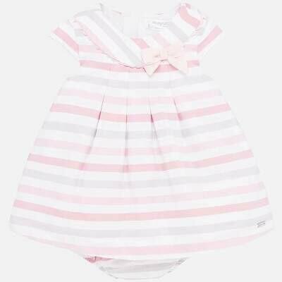 Mayoral Dress Pink Stripes