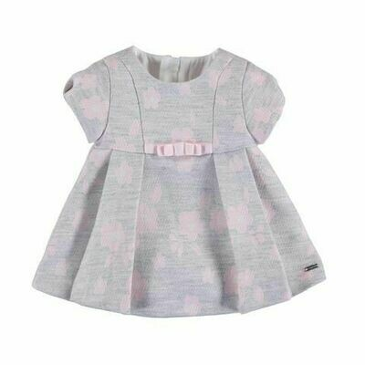 Mayoral Dress - Grey with Pink Florals