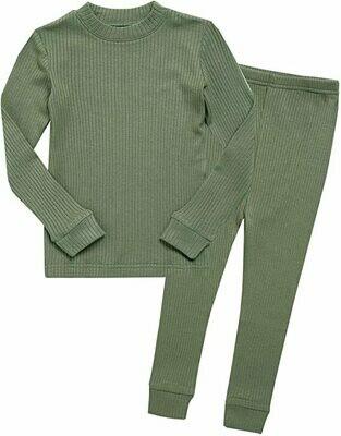 Vaenait Baby Sage Green Pajama Set