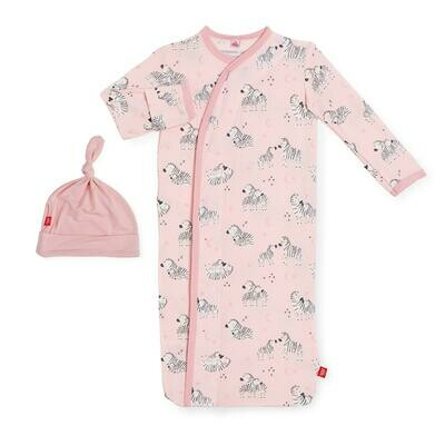 Magnetic Me Pink Little Ones Modal Magnetic Sack Gown & Hat Set