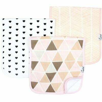 Copper Pearl Baby Burp Cloths - Blush