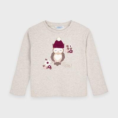 Mayoral Owl Sweatshirt - Metallic Stone