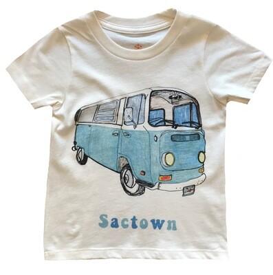 "VW Bus ""Sactown"" Graphic Tee - Natural"