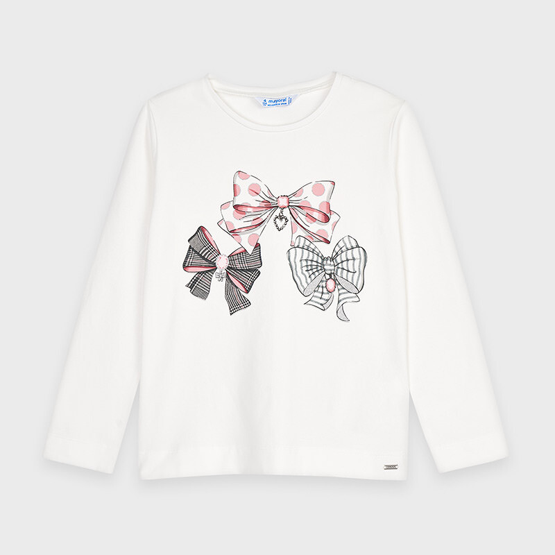 Mayoral Long Sleeve Graphic Tee - Bows