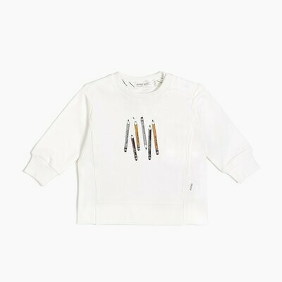 Miles Long Sleeve Off White Top