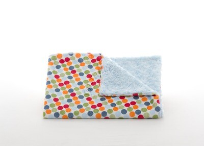 Tourance - Playful Dot Baby Blanket with Blue