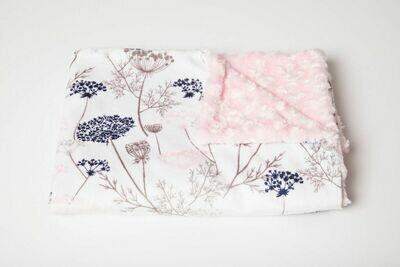 Tourance - Paris Garden Baby Blanket with Pink