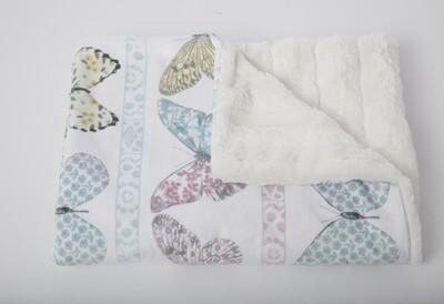 Tourance - Garden Butterflies Baby Blanket
