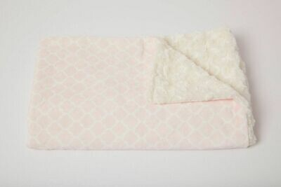 Tourance - Diamond Baby Blanket in Light Pink