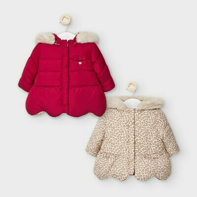 Mayoral Reversible Coat for Baby Girls