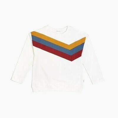 "Miles Off White ""Arcade Game"" Stripe Sweater"