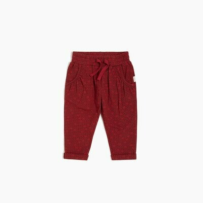 Miles Red Pixel Heart Joggers