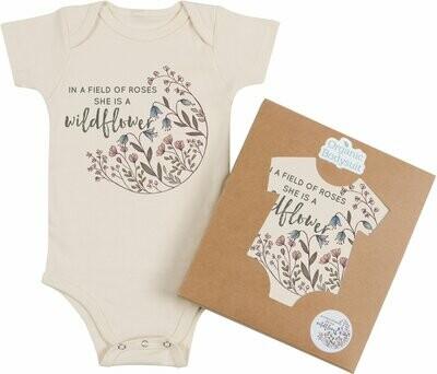 "Morado Designs ""She is a Wildflower"" Onesie"