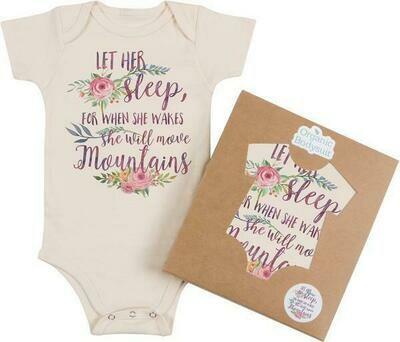 "Morado Designs ""Let Her Sleep..."" Onesie - Natural, USA Made"