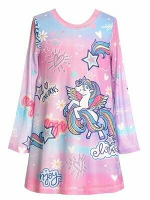 """Baby Sara """"I Love Unicorns"""" A-Line Dress"""