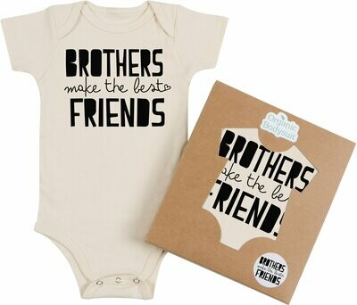"Morado Designs ""Brothers Make the Best Friends"" Onesie"
