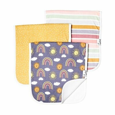 Copper Pearl Baby Burp Cloths 3 Pack - Hope