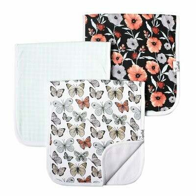 Copper Pearl Baby Burp Cloths 3 Pack -  Dot