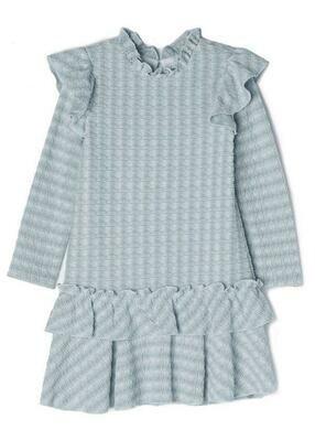 Isobella & Chloe Dress - Blue & White Stripes