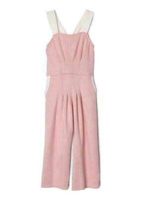 Isobella & Chloe Jumpsuit - Pink & White Stripes