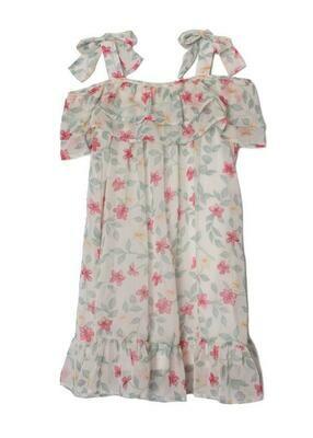 Isobella & Chloe Cold Shoulder Dress - Floral