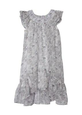 Isobella & Chloe Dress - White with Floral