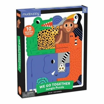 Mudpuppy We Go Together Jungle Puzzle