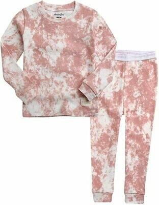 Vaenait Baby - Soft Pink Tie Dye PJ Set