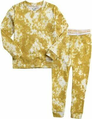Vaenait Baby - Yellow Tie Dye PJ Set