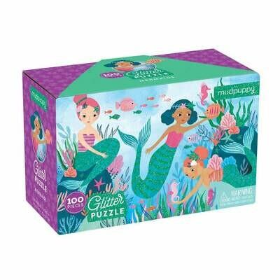 Mudpuppy Mermaids Glitter Puzzle
