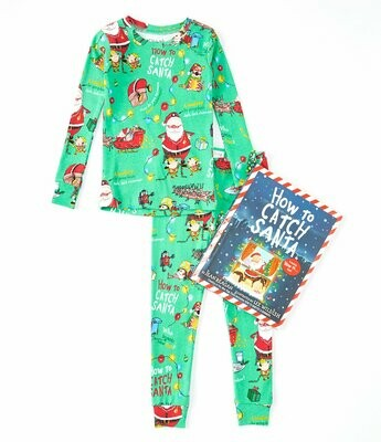 "Books to Bed ""How to Catch Santa"" Pajama Set with Book"