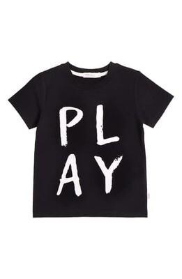 "Miles ""Play"" Graphic Tee - Black"