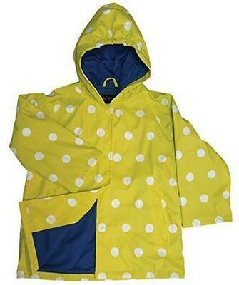 Foxfire Yellow Polka Dot Rain Coat