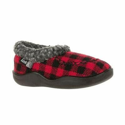 Kamik Cozy Cabin Slippers - Red & Black
