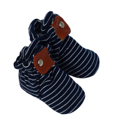 Robeez Cozy Snap Bootie - Navy Stripe