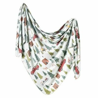 Copper Pearl Knit Swaddle Blanket - Kringle