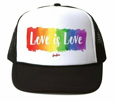 "Bubu ""Love is Love"" Trucker Hat - Black & White"