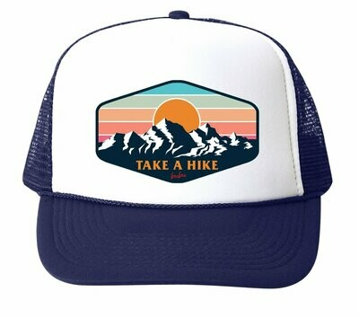 "Bubu ""Take a Hike"" Trucker Hat - Navy"