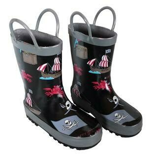 Foxfire Rain Boots - Pirates